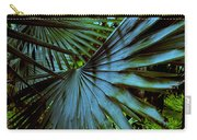 Silver Palm Leaf Carry-all Pouch