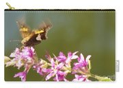 Silver Spotted Skipper Landing On Blooms                 August               Indiana Carry-all Pouch