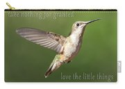 Simple Country Truths Hummingbird Carry-all Pouch