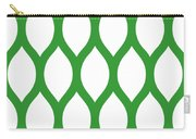 Simplified Latticework With Border In Dublin Green Carry-all Pouch