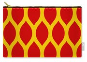 Simplified Latticework With Border In Mustard Carry-all Pouch