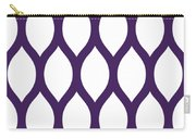 Simplified Latticework With Border In Purple Carry-all Pouch