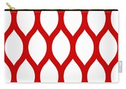 Simplified Latticework With Border In Red Carry-all Pouch