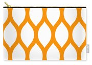 Simplified Latticework With Border In Tangerine Carry-all Pouch
