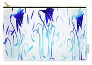 Simply Blue Dancing Flowers Carry-all Pouch