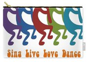 Sing Live Love Dance Tribal Kokopelli Carry-all Pouch