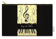 Sing The Blues Yellow Carry-all Pouch