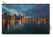 Singapore City Skyline At Evening Twilight Carry-all Pouch