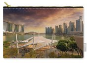 Singapore City Skyline By Marina Bay Sunset Carry-all Pouch