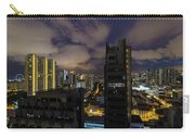 Singapore Cityscape On A Cloudy Night Carry-all Pouch