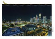 Singapore Modern Skyline By The River At Night Carry-all Pouch