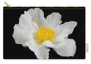 Singel White Peony Magnificence Carry-all Pouch