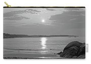 Singing Beach Rocky Sunrise Manchester By The Sea Ma Sand Black And White Carry-all Pouch
