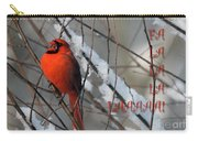 Singing Cardinal Christmas Card Carry-all Pouch