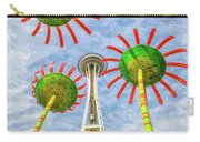 Singing Flowers Under The Space Needle Carry-all Pouch