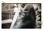 Single Gorilla Sitting Alone Carry-all Pouch