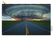 Single Lane Road Leading To Storm Cloud Carry-all Pouch