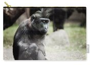 Single Macaque Monkey Sitting Carry-all Pouch