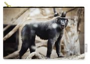 Single Macaque Monkey Standing Carry-all Pouch