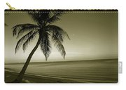 Single Palm At The Beach Carry-all Pouch
