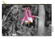 Single Pink Columbine Carry-all Pouch