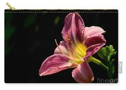 Single Pink Day Lily Carry-all Pouch