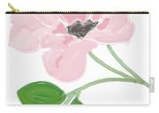 Single Pink Flower Carry-all Pouch