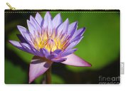 Single Purple Water Lily Number One Carry-all Pouch