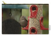 Single Songbird At Feeder Carry-all Pouch