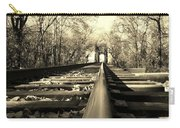 Single Track Mind - Sepia Carry-all Pouch