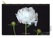 Single White Peony Carry-all Pouch