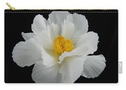 Single White Peony Resplendence Carry-all Pouch