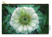 Single White Zinnia  Carry-all Pouch