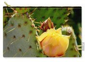 Single Yellow Cactus Bloom 050715a Carry-all Pouch