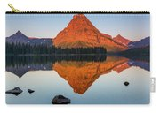 Sinopah Mountain Reflected In Two Medicine Lake At Sunrise Carry-all Pouch