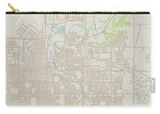 Sioux Falls South Dakota Us City Street Map Carry-all Pouch