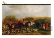 Sir Edmund Antrobus And The Old Surrey Fox Hounds At The Foot Of Carry-all Pouch