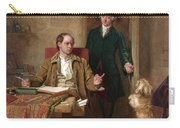 Sir Joshua Reynolds Visiting Goldsmith In His Study Carry-all Pouch
