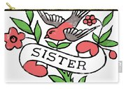 Sister Tattoo Design Carry-all Pouch