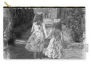 Sisters-black And White Carry-all Pouch