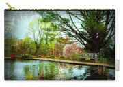 Sit And Ponder - Deep Cut Gardens Carry-all Pouch by Angie Tirado