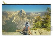 sitting at Glacier Point Carry-all Pouch