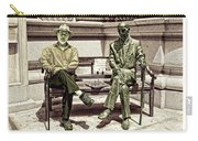Sitting Next To A Statue Of Jan Karski Legendary Polish Underground Courier    Carry-all Pouch
