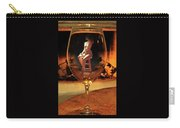 Sitting Nude In Glass Carry-all Pouch