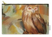 Sitting Owl Carry-all Pouch