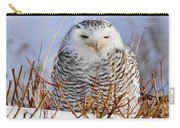 Sitting Snowy Owl Carry-all Pouch