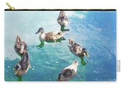 Six Ducks Swim Together Carry-all Pouch