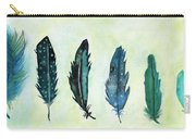 Six Feathers Carry-all Pouch