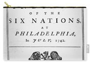 Six Nations Treaty, 1742 Carry-all Pouch by Granger