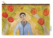 Six Of Pentacles Illustrated Carry-all Pouch